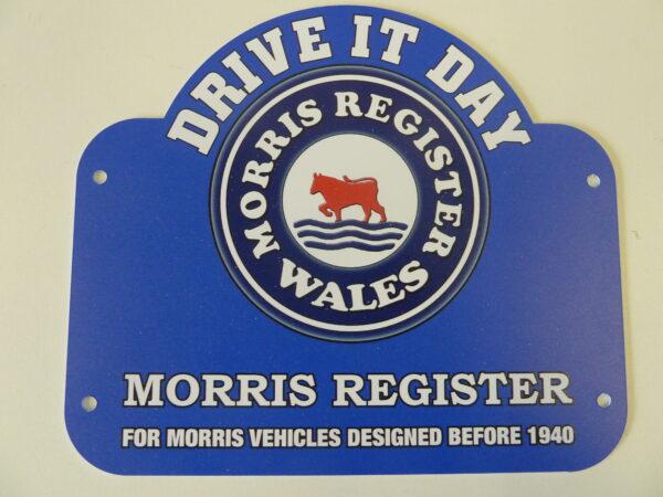 Morris Register - Drive it Day Plaque (Welsh)