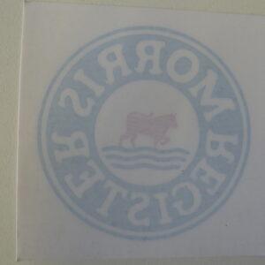 Morris Register - Morris Register Car Window Sticker