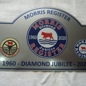 Morris Register - Morris Register Jubilee Plaque